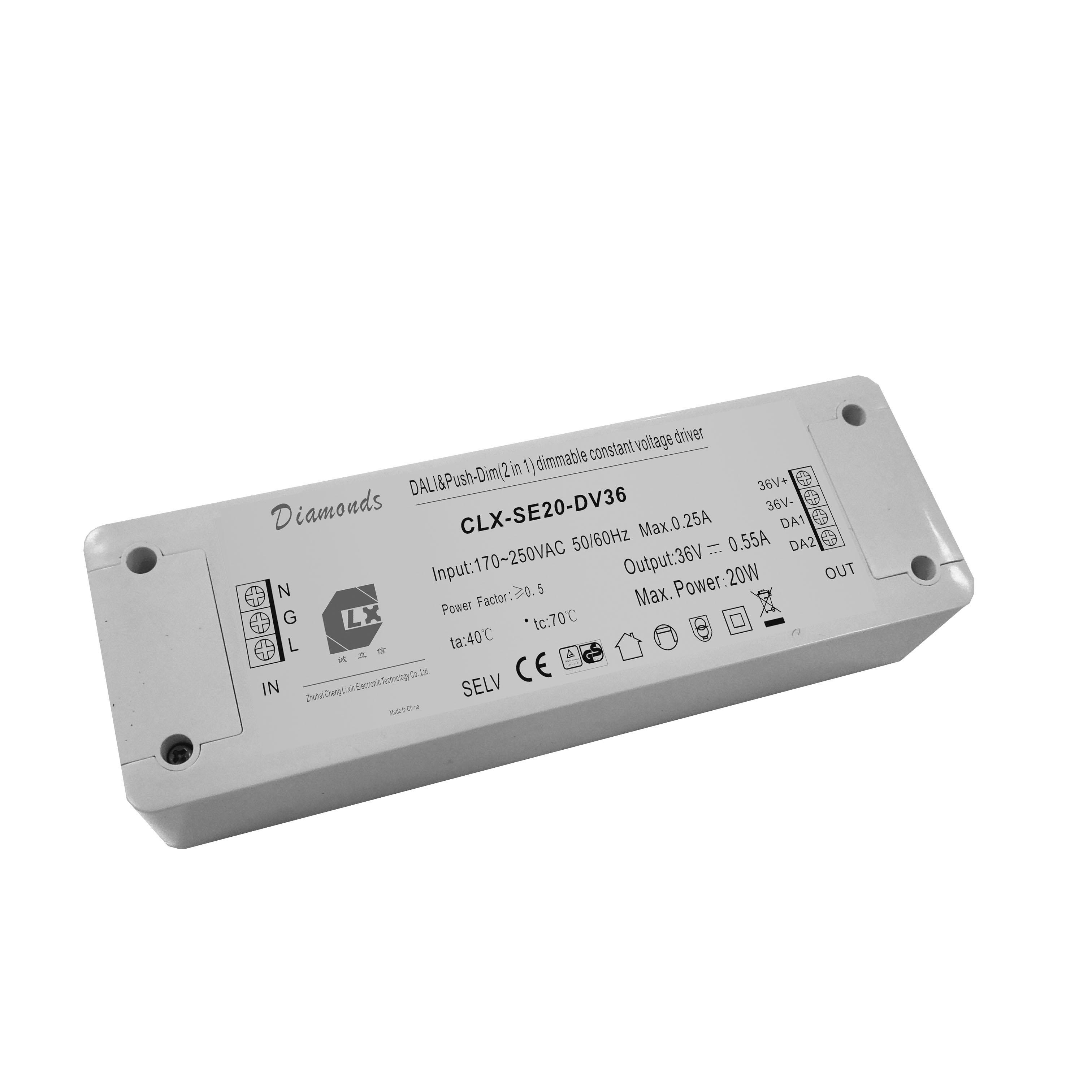 dali 36v 20w led 塑料调光电源